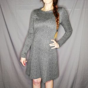 Michael Kors grey long-sleeved mini dress